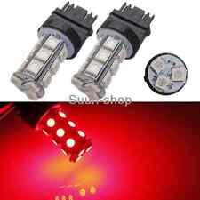 2Pcs 3157 Red 18SMD 5050 Reverse Back Up/Tail/Brake/Stop/Turn LED Light Bulbs
