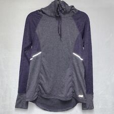 Avia Athletic Long Sleeve Pullover Top Cowl Neck Women's S Purple Running Shirt