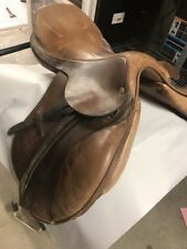 """CanPro Can-Pro English Dressage Saddle. Renoir. Brown. 17"""". Equestrian"""