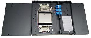 12 Fiber Wall Mount w/ 6 SC/UPC Duplex Adapters, SM Pigtails & 12f Splice Tray