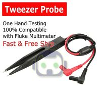 SMD Test Tweezer Banana Universal Multimeter Plug Chip Component LCR Probe Lead