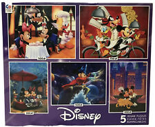 """Ceaco """"Mickey And Friends"""" 5-in-1 Multipack Puzzle Set - FREE SHIPPING"""