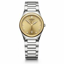 Swiss Army Victoria 32mm Gold Dial Ladies Watch 241633 NEW! One Hour Shipping!