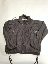 Womens FULL CIRCLE Gray Zip Up Nylon Windbreaker Jacket Sz M