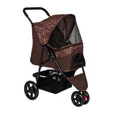 New listing Pet Stroller Cat Dog Cage Stroller Travel Folding Carrier w/ Storage Basket