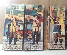 vintage 3 X Musketeers Aurora 1958 unbuild  w /box Aramis Porthos Athos kits