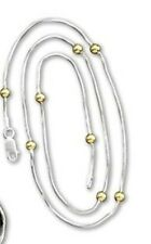 """Wax Insignia Brass - 16"""" Necklace - Silver Plated - Snake Chain"""