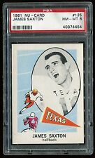 1961 Nu-Card #125 James Saxton PSA 8 NM-MT Cert #40374454