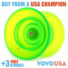 YoYoFactory Flight Offstring Yo-Yo -Green+ FREE STRINGS