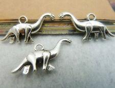 15pc Tibetan Silver Dinosaur Animal Charms Beads Jewellery Beading Pendant PJ620