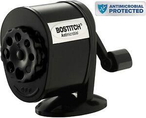 Bostitch Metal Antimicrobial Manual Pencil Sharpener, Black - BNIB OZ Stock