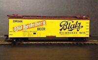 """Blatz  Milwaukee, Wis."" Refrigerator car 40 ft., Walthers HO scale"