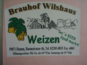 HAMM Brauhof Wilshaus Craft/Micro - Bieretikett WEIZEN