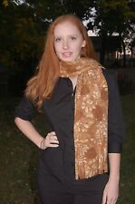 Pine Cones Forest Brown Leaves Fall Autumn  Print Fleece Scarf