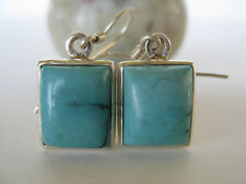 Turquoise Silver Earrings ~ Stunning color natural gems
