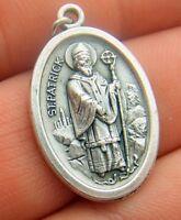 St Patrick & Saint Brigid Two Sided Medal Irish Silver Gild Ireland Patron Gift