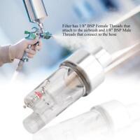 "Hose Paint Fittings AIRBRUSH MINI AIR FILTER Moisture Water Trap 1/8"" Tools Kit"