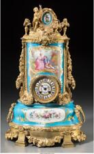 A Louis Xvi-Style Gilt Bronze Mantel Clock Inset With Sevres-Style . Lot 65973
