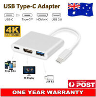 USB 3.1 Type-C to HDMI Adapter Audio Video 4K HD For Samsung Galaxy S10 S10e AU