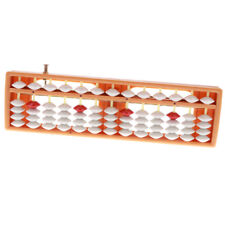 Japanese Soroban 13 Rods Abacus Arithmetic Math Number Counting Tool Orange