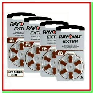 batterie per apparecchi acustici 312 rayovac extra 24 pile per protesi