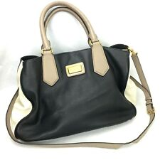 Marc by Marc Jacobs Leather Handbag Color Block Convertible Cross Body Satchel