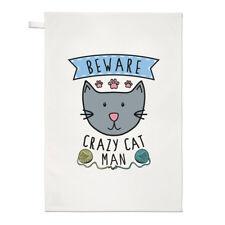 Fai attenzione Crazy Cat Uomo asciugamani Dish Cloth-GATTINO ANIMALE BUFFO
