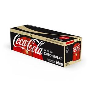 Coca-Cola Vanilla Zero Sugar 12-12fl oz cans(144 oz)