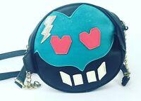 Luv Betsey by Betsey Johnson Round Robot Face Chic Crossbody Black Handbag Purse