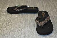 Cobian Braided Bounce Flip Flop Sandal - Women's Size 9 - Iridescent Bronze