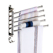 Bath Towel Rack Wall Mounted Stainless Steel Rail Towel Organizer for Bathroom