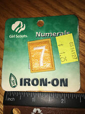 Girl Scout Daisy Uniform Number 7 - New  - Qty 1