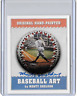 Babe Ruth Original Artist Signed Hand Painted One of a Kind Art Ball Card
