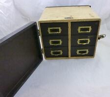 Vintage Barnett & Jaffe Baja Slide Case 6 drawers