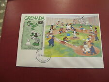 Grenada First Day Cover- Walt Disney - Mickey Mouse playing Baseball
