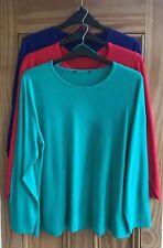 Ladies New Red Purple Jade Green Soft Feel Long Sleeve Jumper Knitwear 20 - 26