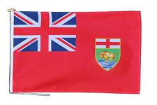 More details for manitoba canada flag with rope and toggle - various sizes