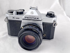 Pentax K1000 film camera, Pentax 50mm F1.7 Lens, New Seals, Meter Working,