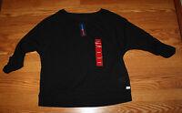 Tommy Hilfiger Sport MY8521-49-17 Cropped Mesh T-Shirt Black Sz M $49