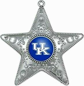 "KENTUCKY WILDCATS Ornament Silver Star Christmas X-Mas Tree 5 "" NIB"