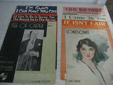 "Vintage sheet music Lot of 7,  ""Isle of Capri"" +6 more"