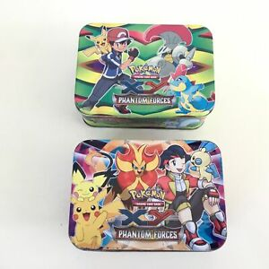 Collection of Pokemon Trading Cards with 2 x Phantom Forces Tins #453