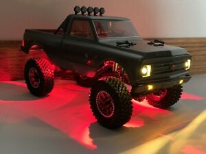 Axial SCX24 RED LED Rock Lights C10 Jeep Deadbolt B17 Betty Plug And Play