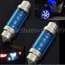 2Pcs 39mm Blue LED Light Car Auto Interior Festoon Dome Lamp New Bulb Light 12V