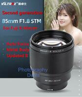 Second Generation Viltrox 85mm F1.8 II STM Auto Focus AF Lens for Fuji X X-Mount