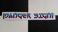 L pericolo giapponese Script! CIANO/Rosa Adesivo da ¡ Pericolo Segno! Hot Rod Custom VW