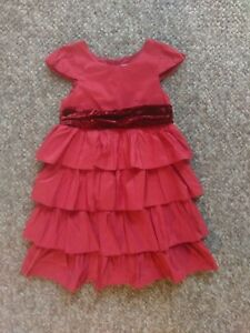 Gorgeous Red Frilled  Dress from Next age 4-5 NEW