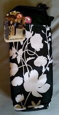 Igloo insulated 1 bottle wine tote black with white flowers