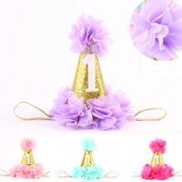 Baby Toddler Kids Girls Lace Flowers Crown Princess Hair Band Headband Headwear