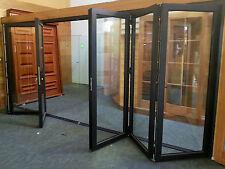 ALUMINIUM DOUBLE GLAZED BIFOLD DOOR - 6 Panel - 2110h x 4810w  | Matt Black